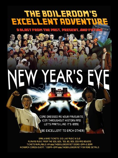 Boileroom's NYE poster (photoshop edit)