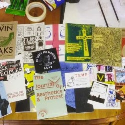 Zine Archive trip to Stuart Hall Library
