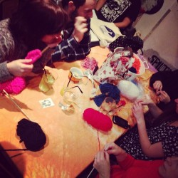 Knitting Circle at the Big Draw 2014