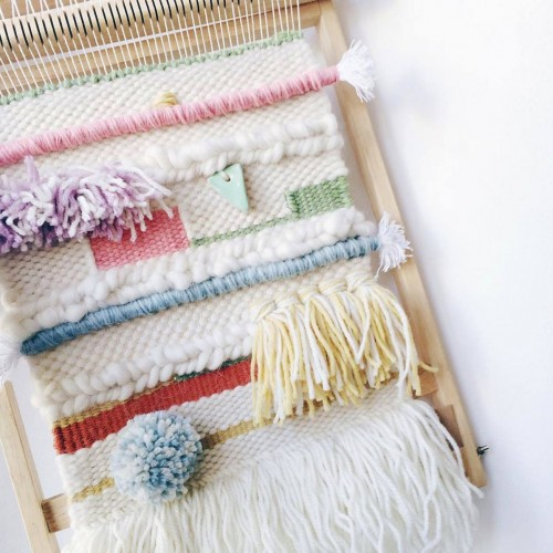 weaving peas and needles